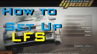 How to - Correctly set up Live for Speed, with Force Feedback Racing steering wheel tutorial S2 0.6E
