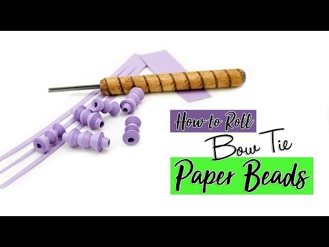 Bow Tie Paper Bead Tutorial