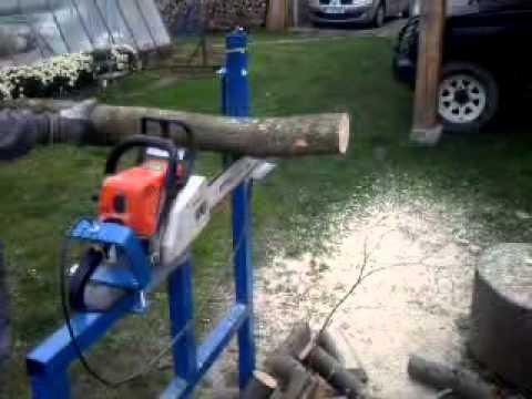 Homemade Log Wood Holder for Chainsaw Log Saw Bench Log ...
