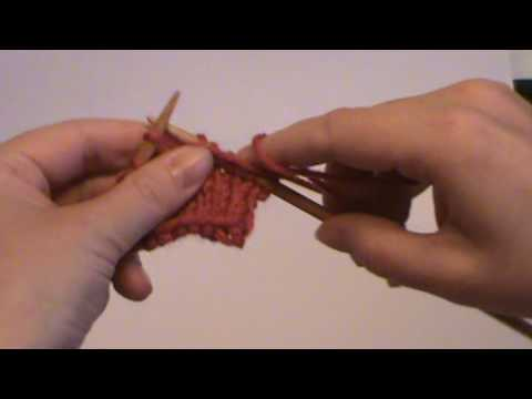 Kpk Knit Purl Knit All In One Stitch Double Increase Youtube