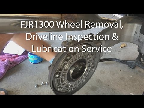 Yamaha FJR1300 Front And Rear Wheel Brake Driveshaft Removal