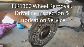 Yamaha FJR1300 Front And Rear Wheel Brake Driveshaft Removal Inspection Lube Service