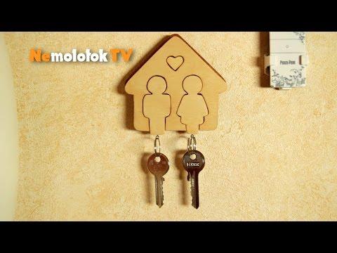 Cмотреть онлайн Вытачиваем ключницу-домик своими руками