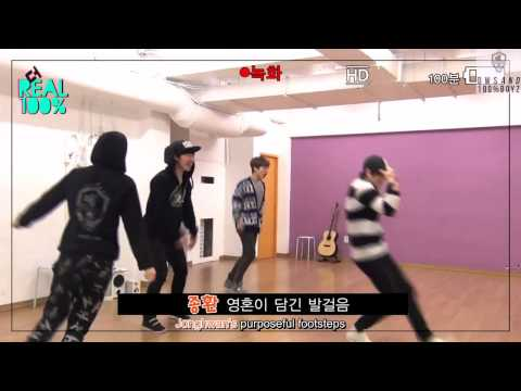 [Eng Sub] The Real 100% [130413] Booming Version of Bad Boy in the Practice Room
