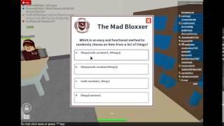 Roblox University Test 3:Mad Bloxxer