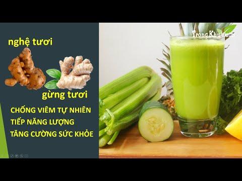 Juice Therapy 002: Nước ép cần tây - dưa chuột - chanh - gừng - nghệ (và kinh nghiệm làm nước ép)