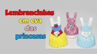 Como fazer lembrancinha em EVA das princesas