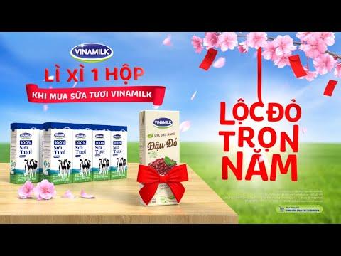 Lộc đỏ trọn năm với Sữa tươi Vinamilk 100%