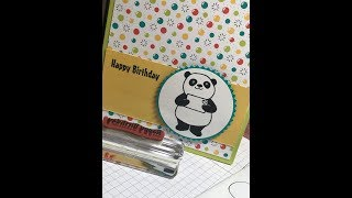 Video #102 Party Panda And Extras Stampin' Up!