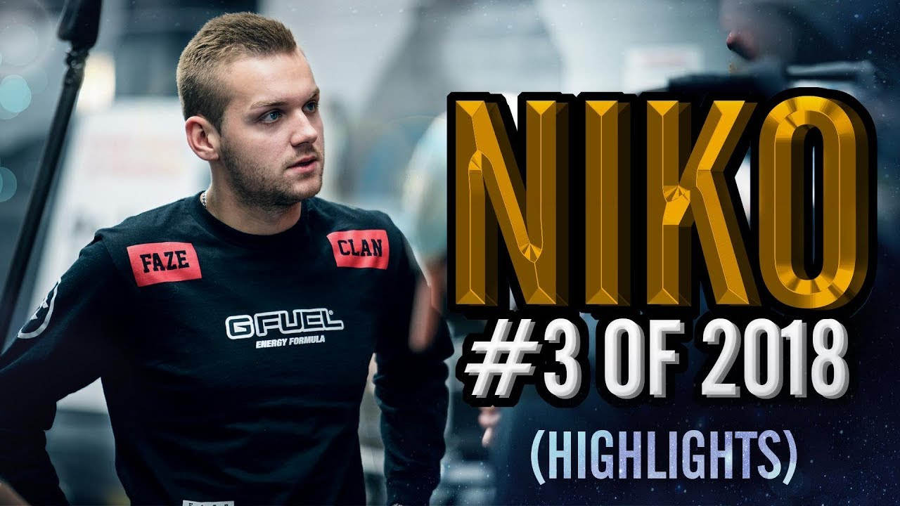 NiKo - 3rd Best Player In The World - HLTV org's #3 Of 2018 (CS:GO)