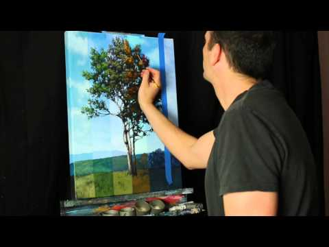 Time Lapse Surreal Landscape Tree Painting by Tim Gagnon, Acrylic on canvas