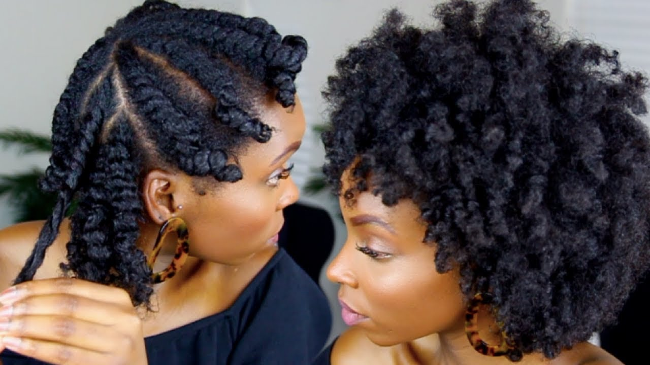 Flat Twist Out On 4c Natural Hair Youtube