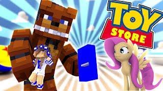 FREDDY FASBEAR BREAKS THE LITTLE CARLY DOLL?! w/Little Kelly (Minecraft Toystore)
