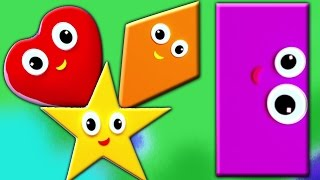 Формы песни | образовательных видео | дети обучения | Learn Shapes | Kids Song | Shapes Song