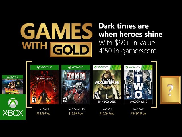 Xbox Games With Gold January 2020.Xbox Live Games With Gold January 2018 Lineup Revealed