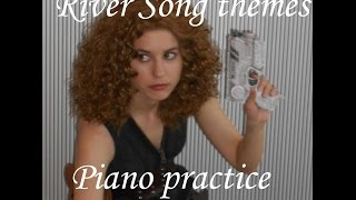 Piano practice - River Song themes (Doctor Who) (in River Song cosplay)