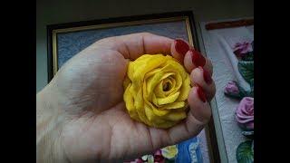 Мастер-класс: Лепка розы с тонкими лепестками из солёного теста. Master class for modeling rose.