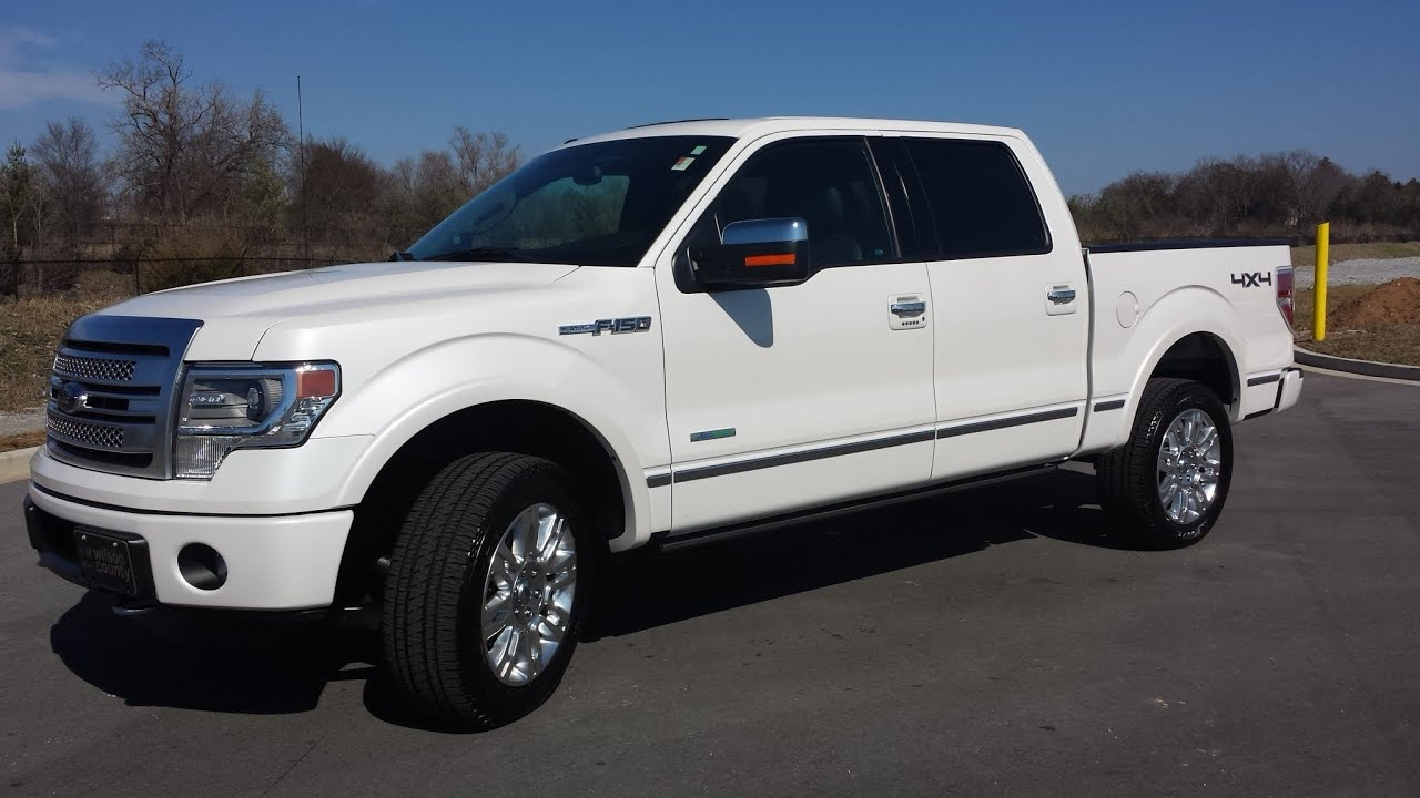 sold 2013 FORD F 150 SUPERCREW PLATINUM 4X4 3 5 ECOBOOST 13K WHITE