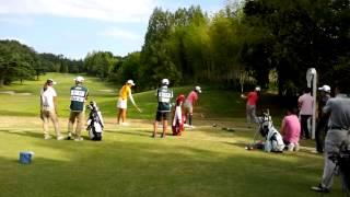2014.10.01日本女子オープンゴルフ指定練習日。 渡邉彩香(左から2番目...