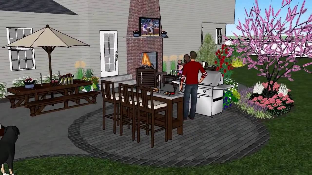 Home Design 3d Outdoor And Garden Full : Home landscape design plans ideas picture