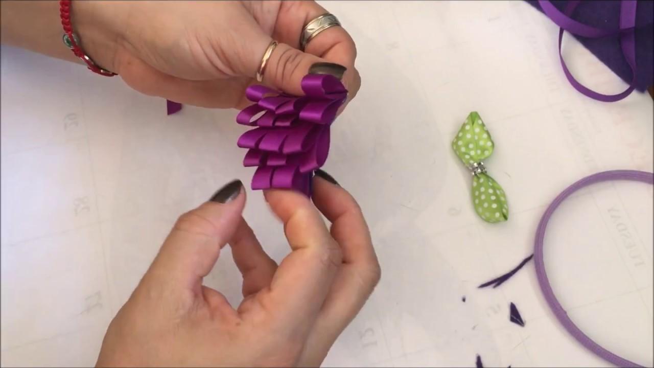 Decoración de una diademas en forma de racimo de uvas. - YouTube