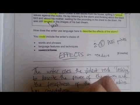 GCSE English Language Paper 1 Q2  the