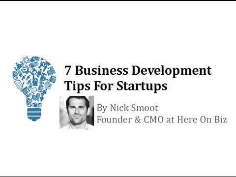"""Business Development For Startups"" by Nick Smoot"