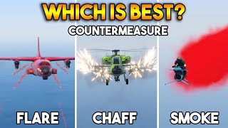 GTA 5 ONLINE : FLARE VS CHAFF VS SMOKE (WHICH IS BEST COUNTERMEASURE?)