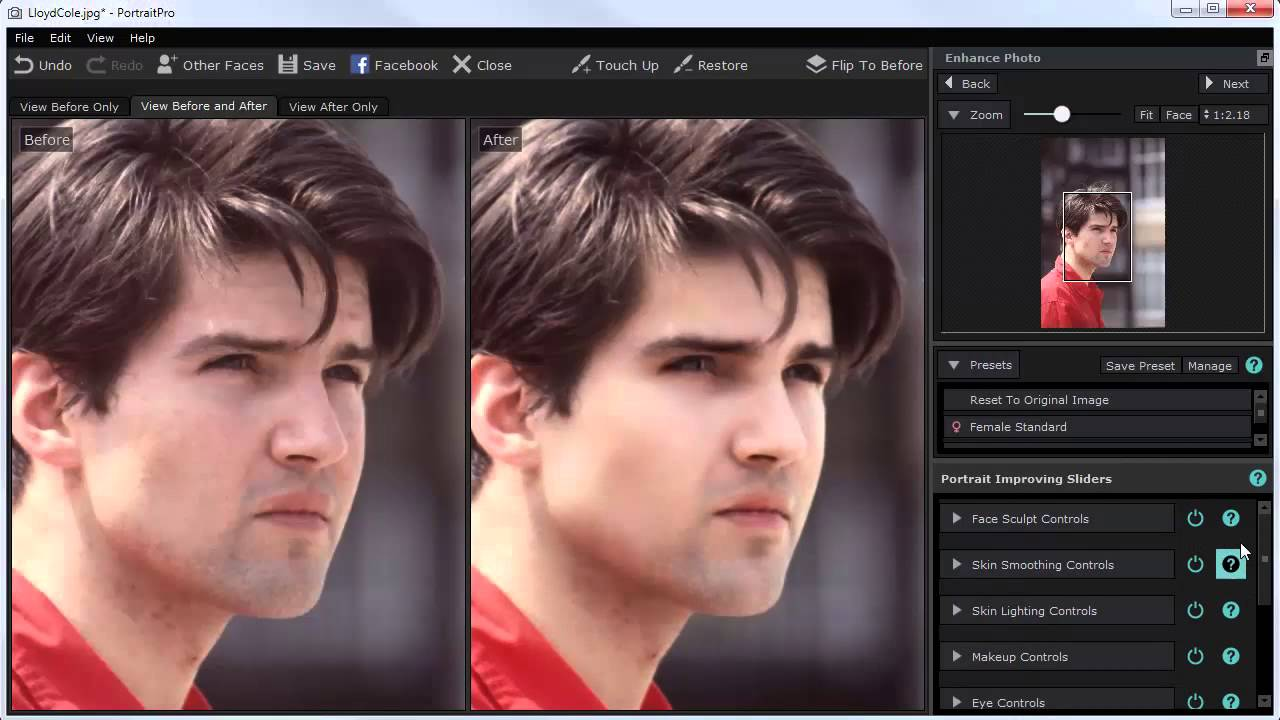 Portrait Professional 15 Face Image Processing Program Review