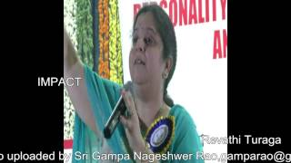 How to Achieve Goals by Revathi Turaga at IMPACT Tirupati