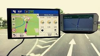 Garmin 61 vs Iphone 6 google maps satnav Free HD Video