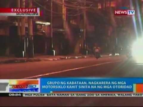 NTG: EXCLUSIVE: Grupo ng kabataan sa Muntinlupa, nagkarera ng mga motorsiklo (050412)