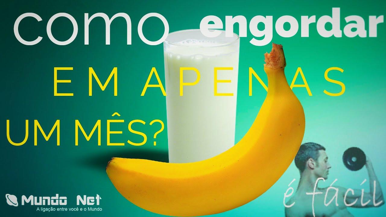 Vitamina de banana para engordar em uma semana