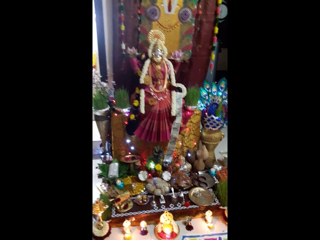 Varamahalakshmi Festival Decoration at my home