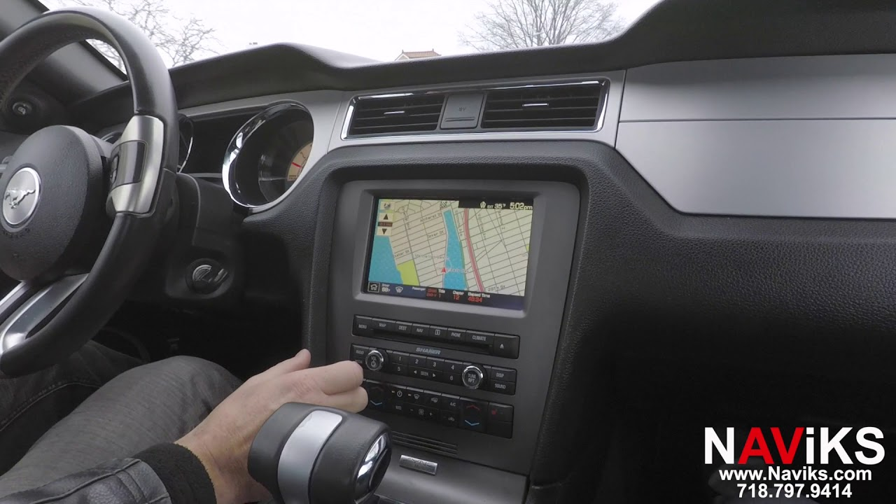 2010 Ford Mustang GT SYNC NAViKS Video In Motion Bypass Navigation & DVD in  Motion