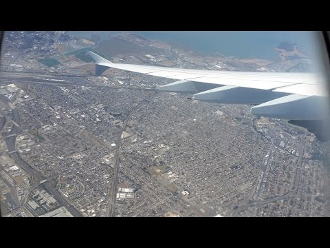 Lufthansa A380 taxi and takeoff from San Francisco!