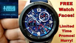 *FREEBIE ALERT!* Samsung Galaxy Watch/Gear Watch Faces for a Limited Time Only! Jibber Jab Reviews!