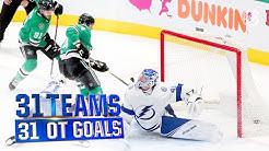 The Best Overtime Goal for ALL 31 Teams   2019-20 NHL Season