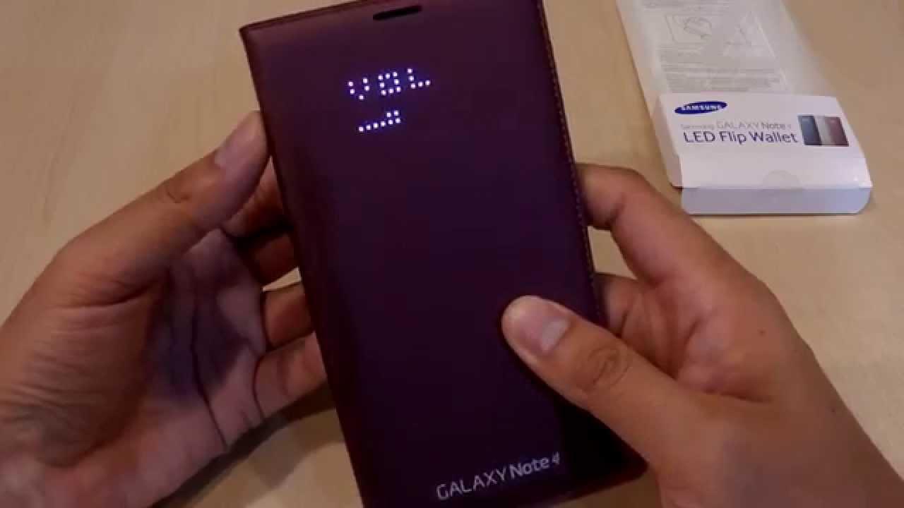 promo code 90b2f 65a4f Samsung Galaxy Note 4 LED Flip Wallet