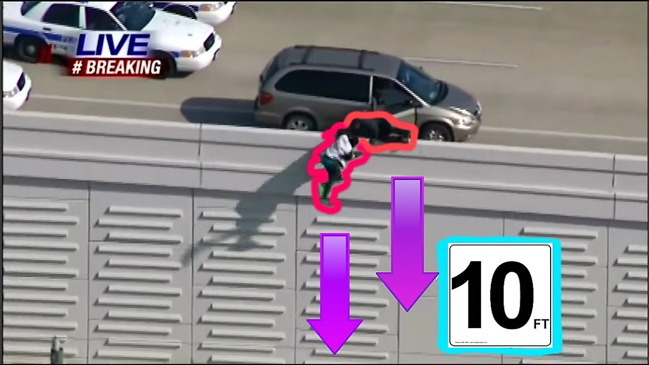Download SUSPECTS JUMP OFF HIGHWAY(10FT DROP) IN HOUSTON POLICE CAR CHASE!!!