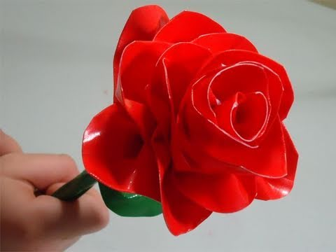 How To Make A Duct Tape Rose Simplekidscrafts Youtube
