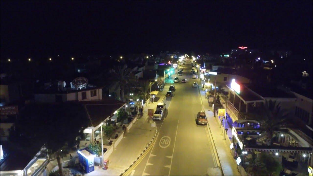 Dji Phantom 2 >> coral bay strip paphos cyprus at night from above dji ...