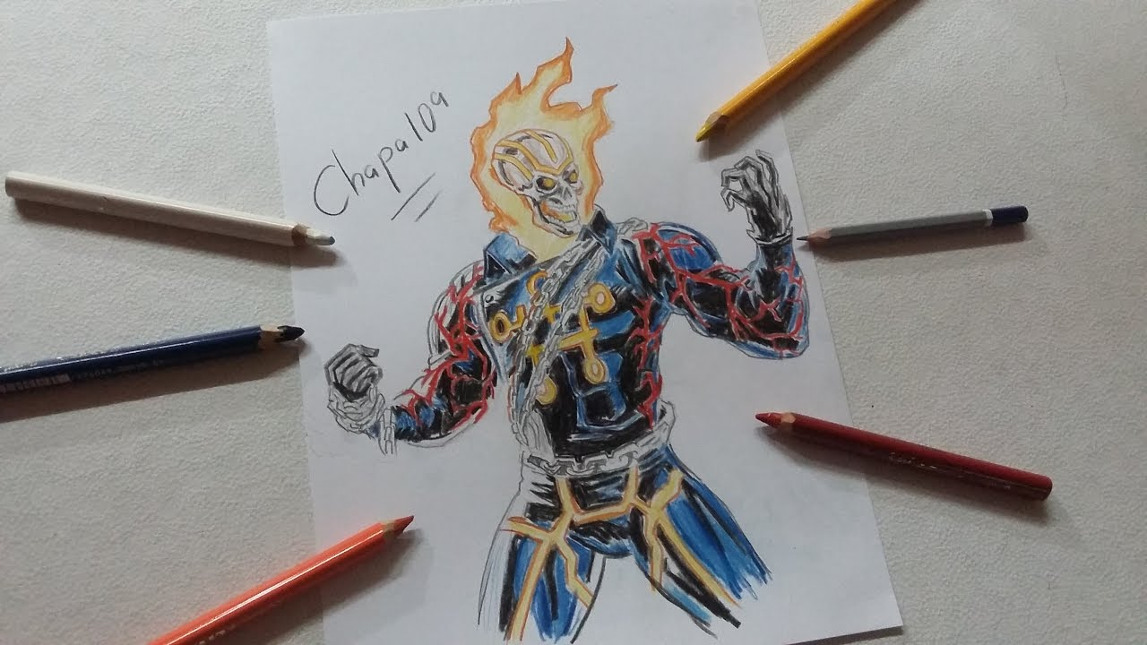 Dibujo De Ghost Rider Greithoth Drawing Ghost Rider Greithoth