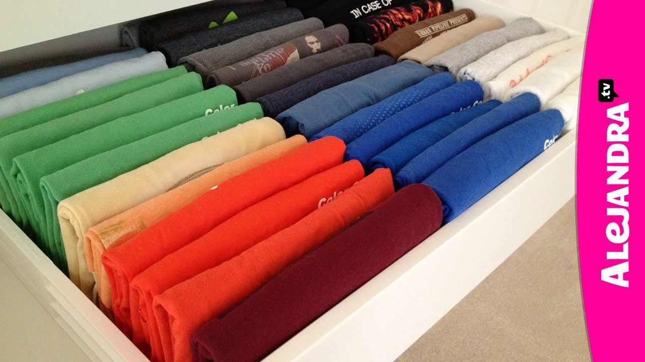 Top 40 Shirt Organizing Ideas 2018   DIY Organizer Tray Rip Drawer Fold  Shirt Shelving Storage Tips