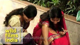 Making rangoli on the occasion of Diwali