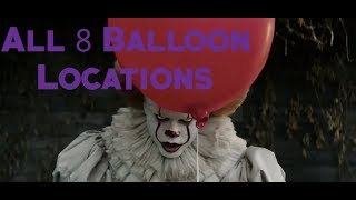 Fortnite All 8 Pennywise Balloons