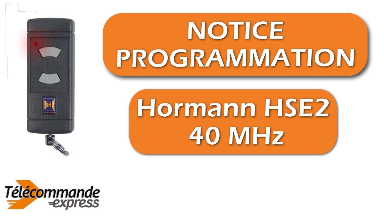 Porte De Garage Hormann Pas Cher telecommande hÖrmann hse2 40 mhz