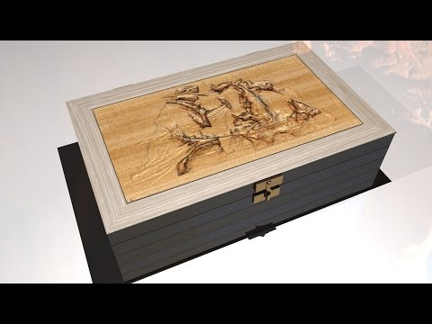 Maya tutorial : How to model a fancy, engraved wooden box