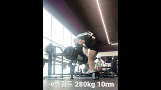 브이스쿼트 280kg …
