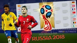 BRASIL E PORTUGAL VS RESTO NA COPA 2018 - FIFA EXPERIMENTOS
